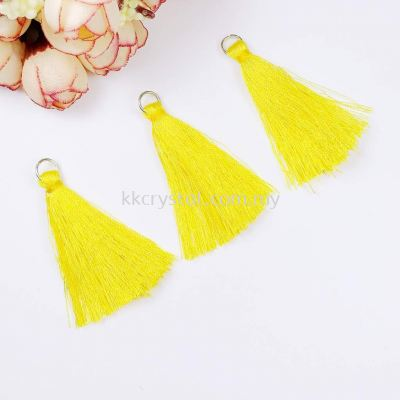 Tassel, Code 03#, Color 10#, 5.5cm,  Light Topaz, 10pcs/pack