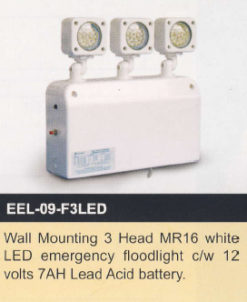 EVERBRIGHT EEL-09-F3LED 3 head LED Emergency Floodlight