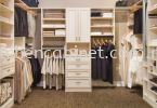 WI8 - Walk in wardrobe with solid nyatoh Walk-In Wardrobe Wardrobe