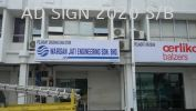 Light Board Advertising Signboard Maker Pejabat Urusan & Stor