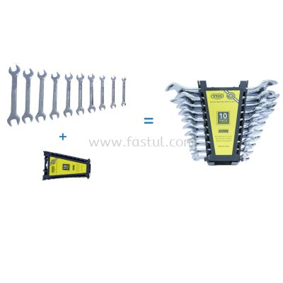 DOUBLE OPEN END WRENCH SET (10PCS)