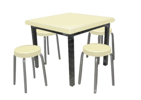 KD33S - FIBRE GLASS TABLE WITH CHAIR