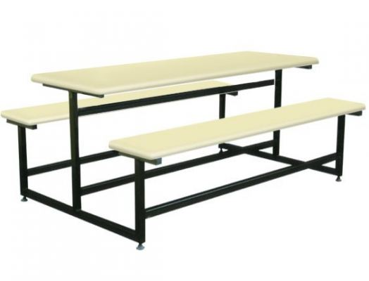 AK609 - FIBRE GLASS TABLE WITH BENCH