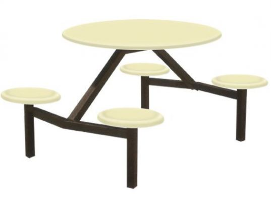 AK406 - FIBREGLASS TABLE WITH STOOL