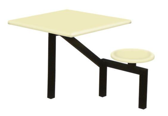 AK201 - FIBREGLASS TABLE WITH STOOL 1 Seater Canteen Table (Fibreglass Table Top) Fibreglass Furniture