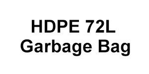 HDPE 72L Garbage Bag