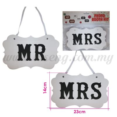 Display Board *Mr & Mrs - White (DB-WD-02W)