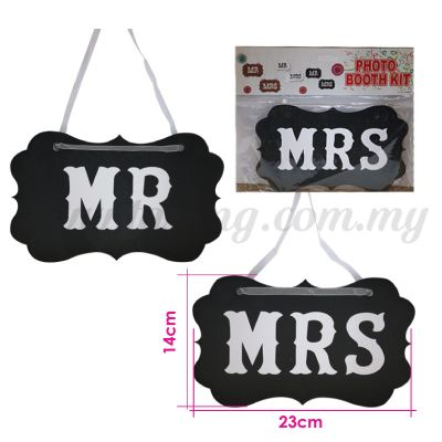 Display Board *Mr & Mrs - Black (DB-WD-02BK)