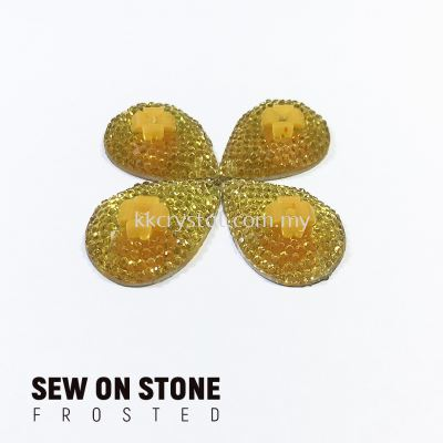 Sew On Stone, Frosted Print, 06# Teardrop, 16x23mm, Color 54#, 4pcs/pack (BUY 1 GET 1 FREE)