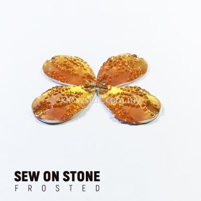 Sew On Stone, Frosted Print, 02# Teardrop, 15x22mm, Color 06#, 4pcs/pack (BUY 1 GET 1 FREE)