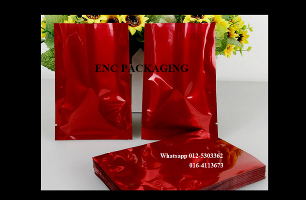 Red Foil bag (70mm x 100mm)