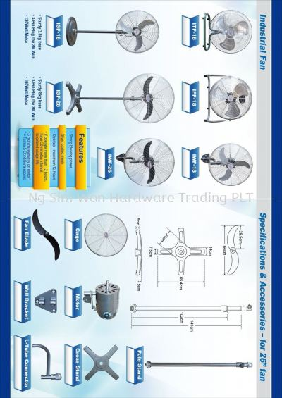 INDUSTRIAL FLOOR, WALL & STAND FANS (A022)