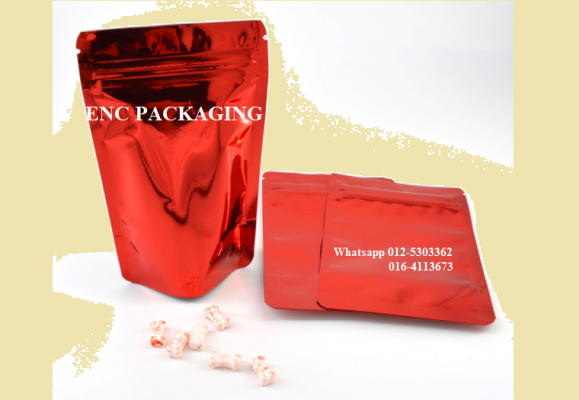 Red Foil bag (85mm x 130mm)