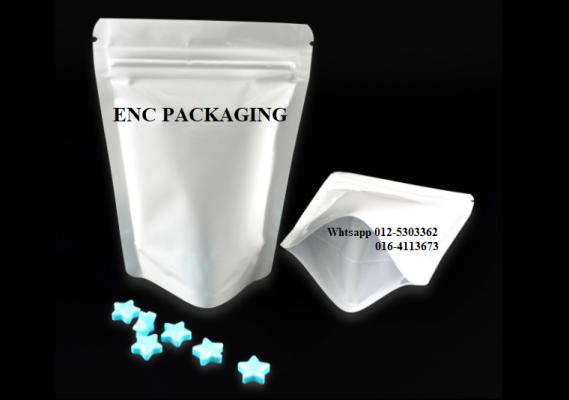 White foil bag (110mm x 160mm)