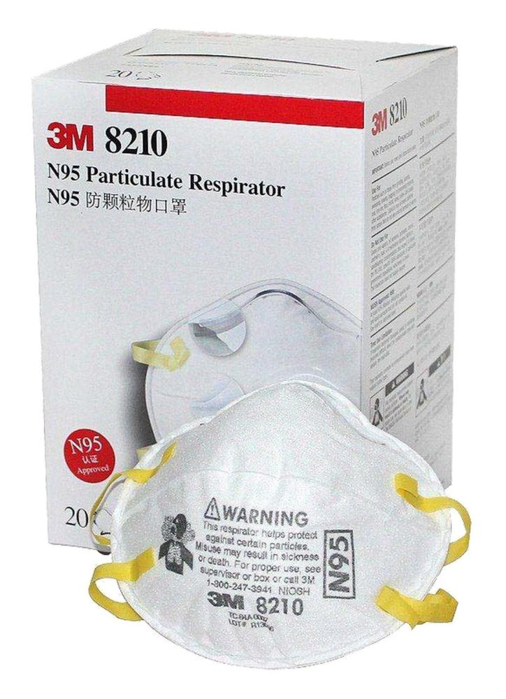 3m Mask Respirator Respirators Particulate N95 3m-8210 Disposable