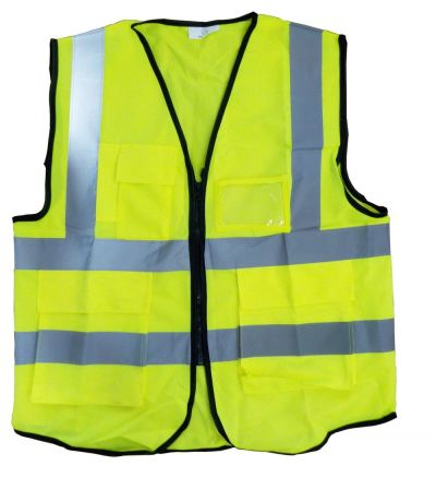 AIM SAFETY VEST - 4LINE WITH 4 POCKET / LIME YELLOW