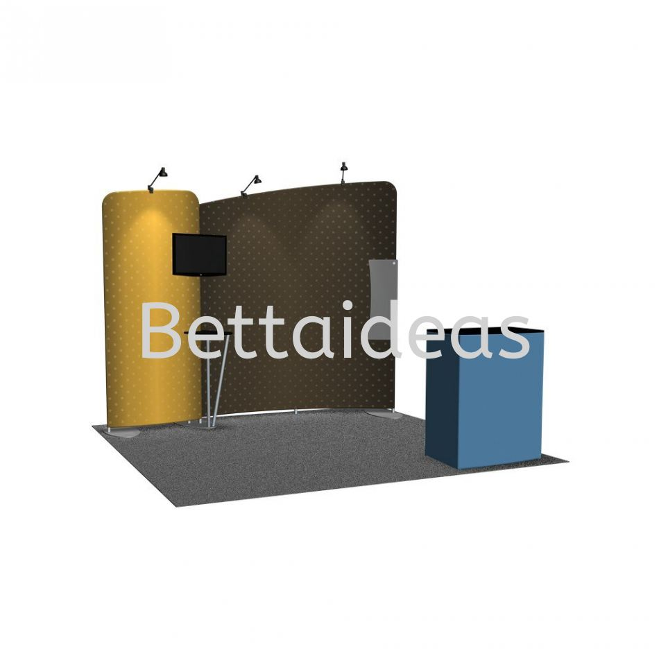 TF_SET D - 10FT 3x3 Booth Size Customize Booth Display
