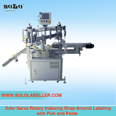 Wrap Around Labeling Machine with Pick and Paste (Servo Rotary Indexing)