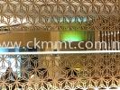 Restaurant Decorated With Titanium Coating  Decorative Lattice Panel