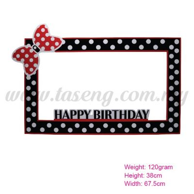Photo Booth Frame (HB) Black (P-BF-01BK)