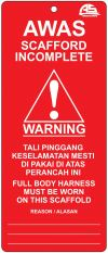 Card.R Scaffold Tag System SAFETY SIGNS & LABEL