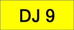 Number Plate DJ9 Superb Classic Plate