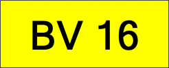 Superb Classic Number Plate (BV16) All Plate
