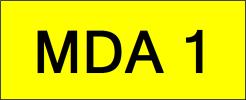 MDA1 Super VVIP Plate