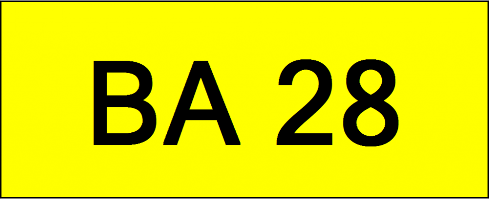 Number Plate BA28