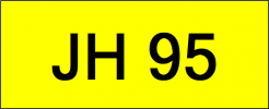 Number Plate JH95 Superb Classic Plate