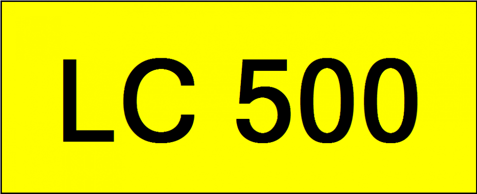Number Plate LC500