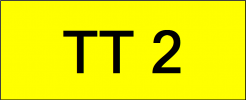 Number Plate TT2 Superb Classic Plate