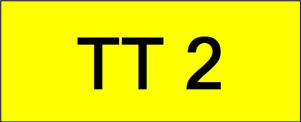 Number Plate TT2