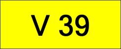 V39 Rare Classic Plate