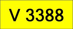 V3388 Rare Classic Plate