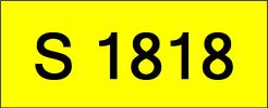 S1818 Rare Classic Plate