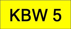 KBW5 VVIP Plate