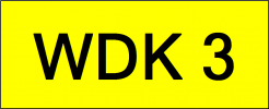 Number Plate WDK3 VVIP Plate