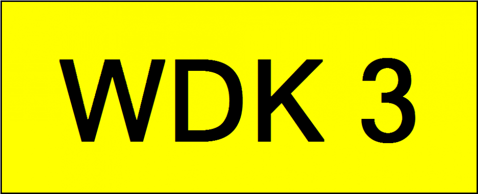 Number Plate WDK3
