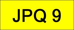 JPQ9 VVIP Plate