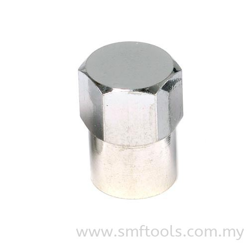 Long Chrome Hex Caps Valve Caps and Cores Valve Accessories and Tools Tire Valves and Accessories