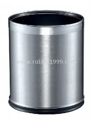 STAINLESS STEEL ROUND WASTE BIN - double layer