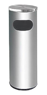 STAINLESS STEEL LITTER BIN c/w flat top