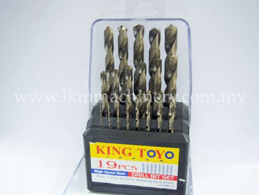 King Toyo Metal Drill Bit 19pcs
