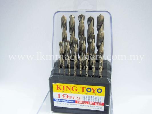 King Toyo Metal Drill Bit 19pcs