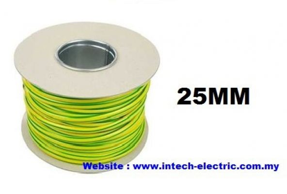 25.0SQMM PVC SINGLE CORE FLEXIBLE CABLE (GREEN-YELLOW)