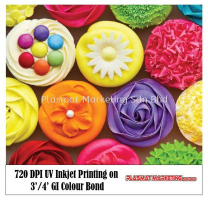720 DPI UV Inkjet Printing on 3�� / 4�� GI Colour Bond