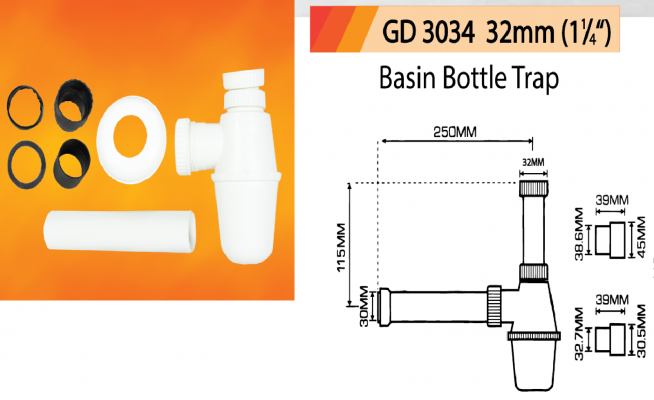 Basin Bottle Trap