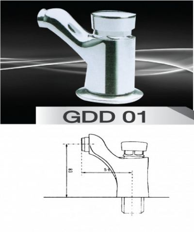 Self Closing Faucet (Wall Type) GDD 01