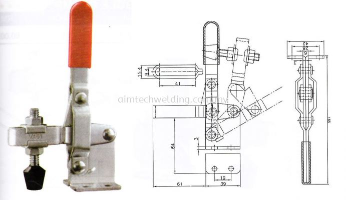 GH101D VERTICAL HANDLE TOGGLE CLAMP